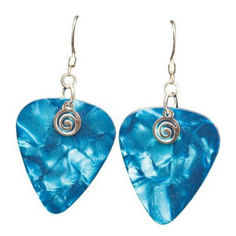 Guitar Pick Earrings, Turquoise