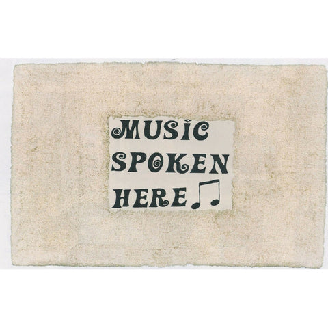 Music Spoken Here Floor Mat