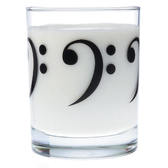 Glass Tumbler, Bass Clef