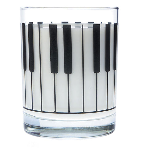 Glass Tumbler, Piano Keyboard