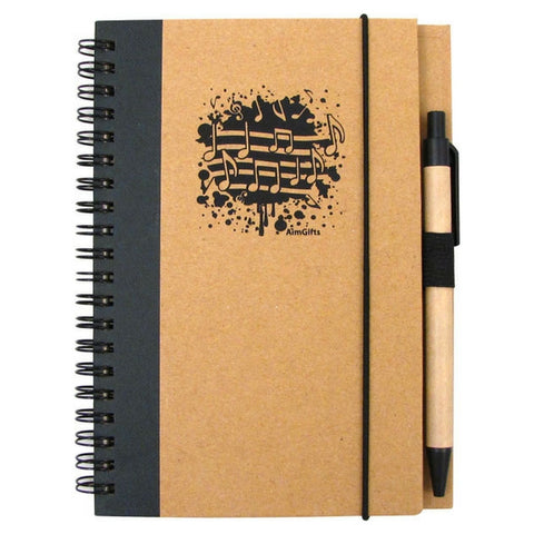 Recycled Music Notes Journal with Pen