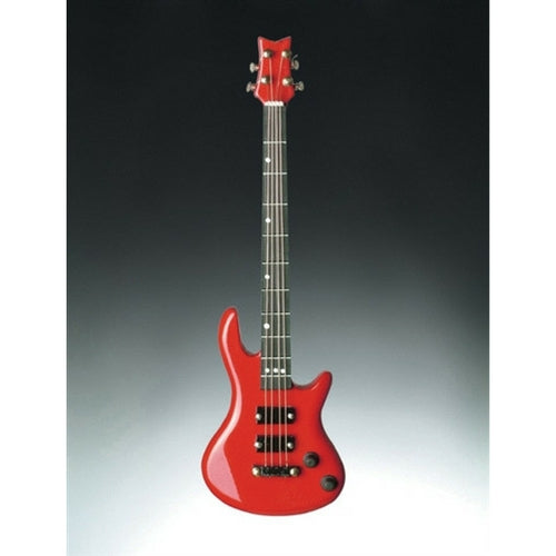 3-D Magnet, Electric Bass Guitar, Red