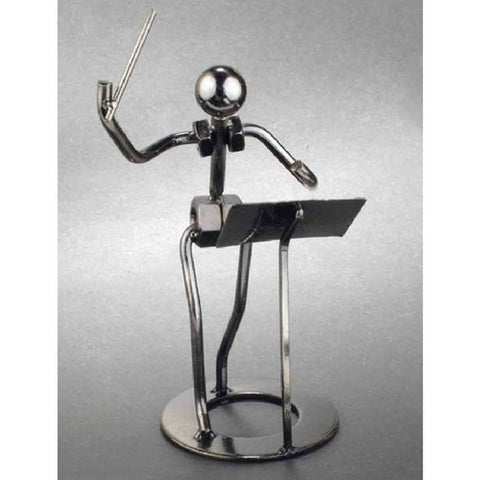 Metal Musician Sculpture, Conductor
