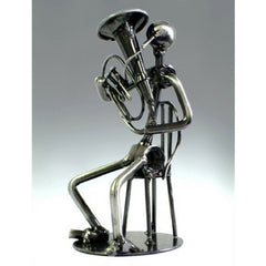 Metal Musician Sculpture, Tuba Player