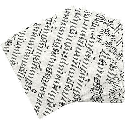 Sheet Music Beverage Napkins