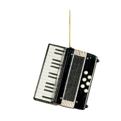 Accordion Christmas Ornament, Black
