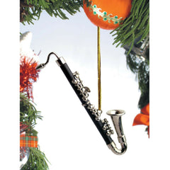 Bass Clarinet Christmas Ornament