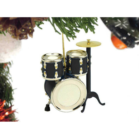 Drum Set Christmas Ornament, Black
