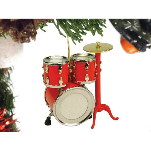 Drum Set Christmas Ornament, Red