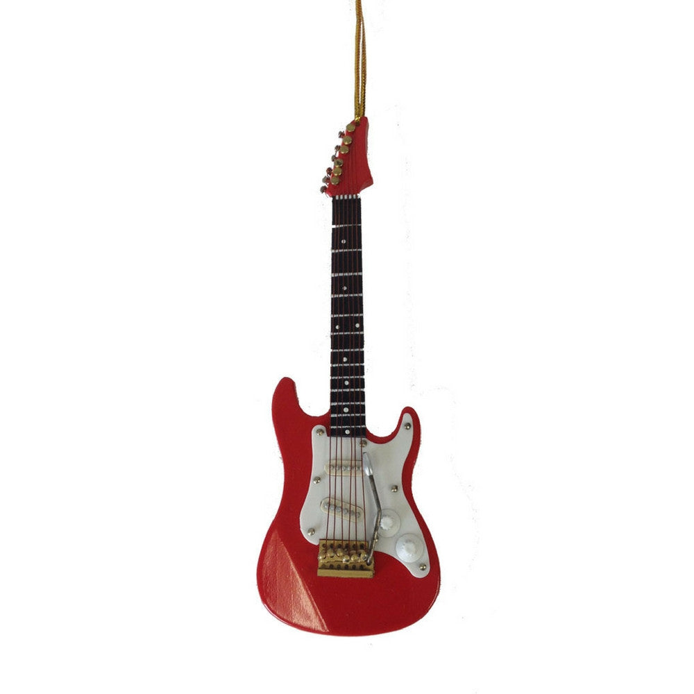Electric Guitar Christmas Ornament, Red Stratocaster