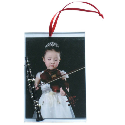 Music Picture Frame Ornament, Clarinet