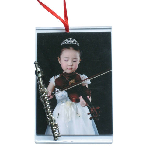 Music Picture Frame Ornament, Flute
