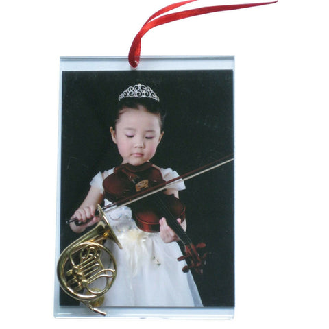 Music Picture Frame Ornament, French Horn
