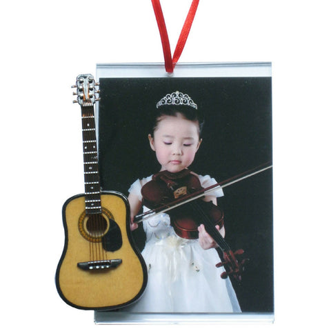 Music Picture Frame Ornament, Acoustic Guitar