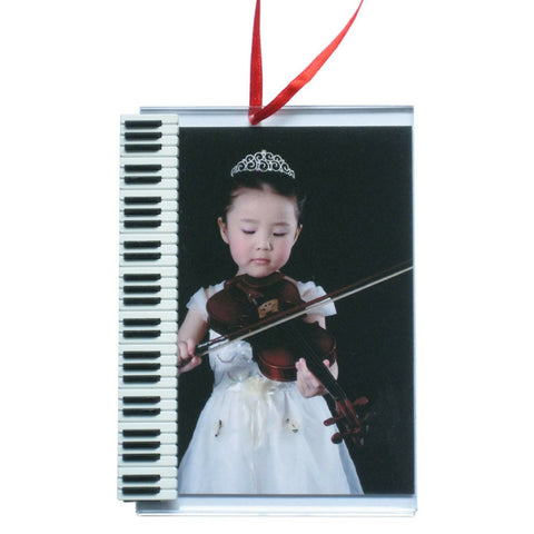 Music Picture Frame Ornament, Piano Keyboard