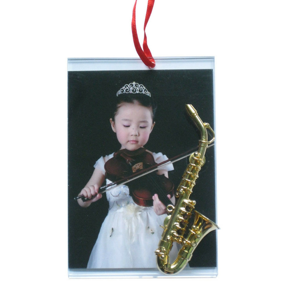 Music Picture Frame Ornament, Alto Saxophone