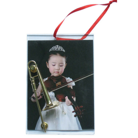 Music Picture Frame Ornament, Trombone