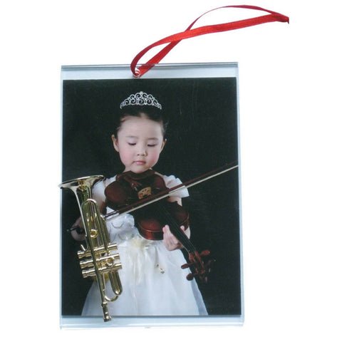 Music Picture Frame Ornament, Trumpet