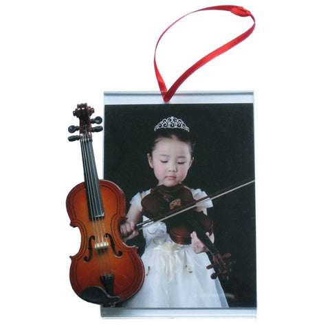 Music Picture Frame Ornament, Violin/Viola