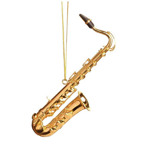 Saxophone Christmas Ornament, Tenor Sax