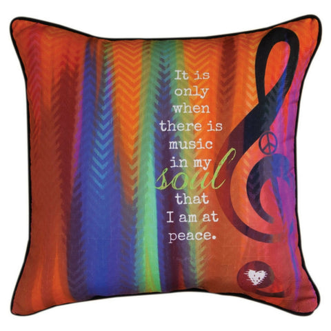 Music in My Soul Pillow