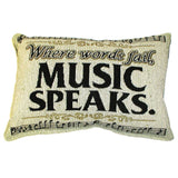 Word Pillow, Where Words Fail, Music Speaks