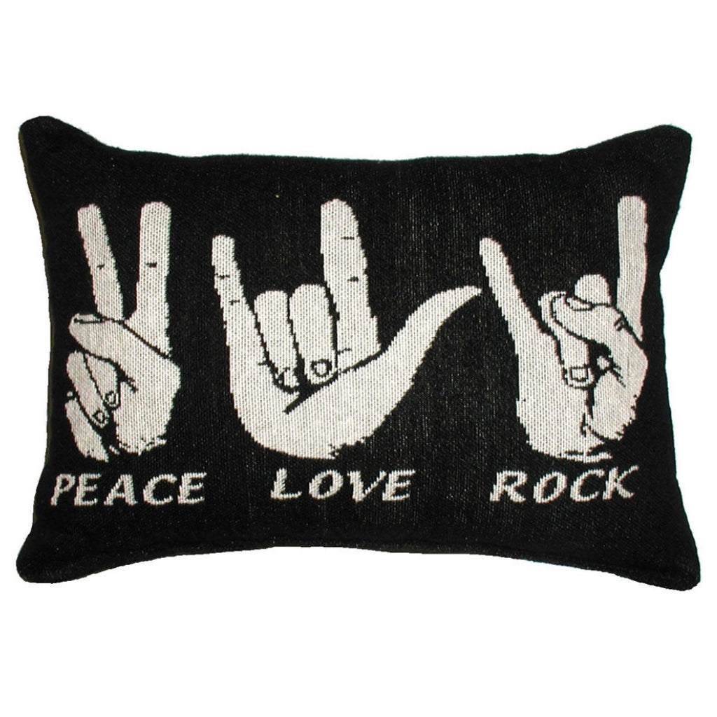 Word Pillow, Peace Love Rock