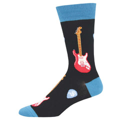 Men's Socks, Electric Guitars, Black