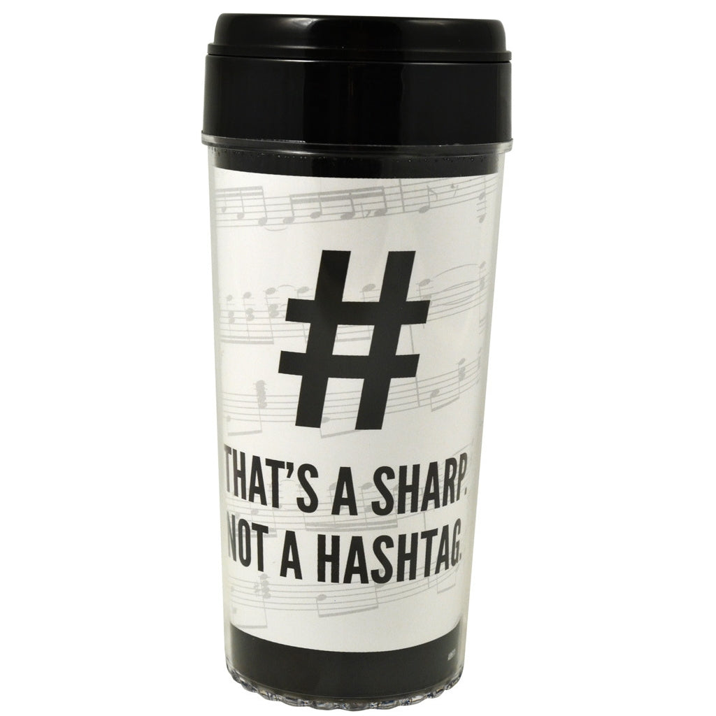 Travel Tumbler, That's a Sharp, Not a Hashtag