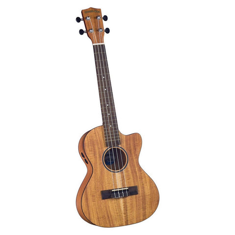 Diamond Head DU-350TCE Flamed Acacia Electric/Acoustic Cutaway Tenor Ukulele