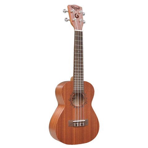 Kahua Mahogany Ukulele With Solar Eclipse Design, Tenor