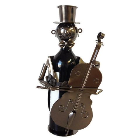 Wine Bottle Holder, Cello Player