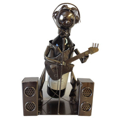 Wine Bottle Holder, Singer with Guitar