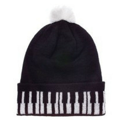 Knit Keyboard Winter Pom Pom Hat
