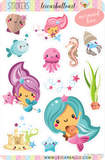 Sticker Sheet Set - Mermaid Love