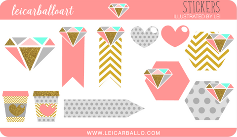 Sticker Sheet - Diamond Sampler