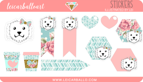 Sticker Sheet - Maltese Sampler