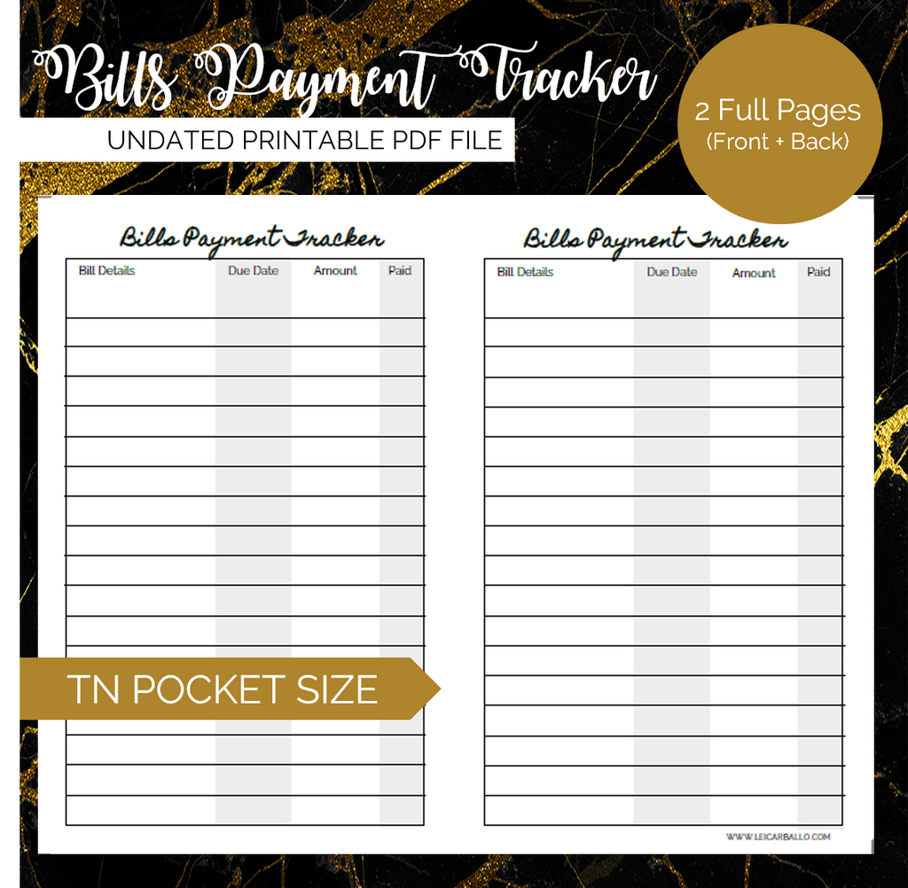 photo about Passport Printable known as Wonderful Printables: Costs Charge Tracker (Pocket, Pport, A6 TN)