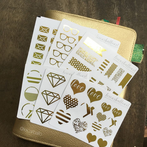 Gold Foil Sticker Set