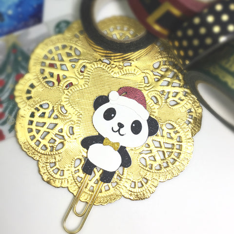 XMas Panda Glittered Paper Clip LIMITED EDITION