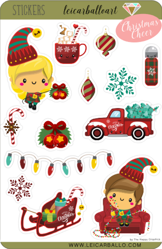 Sticker Sheet Set - Christmas Cheer
