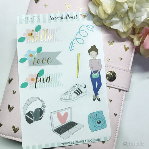 Foil Stickers - Lala Love