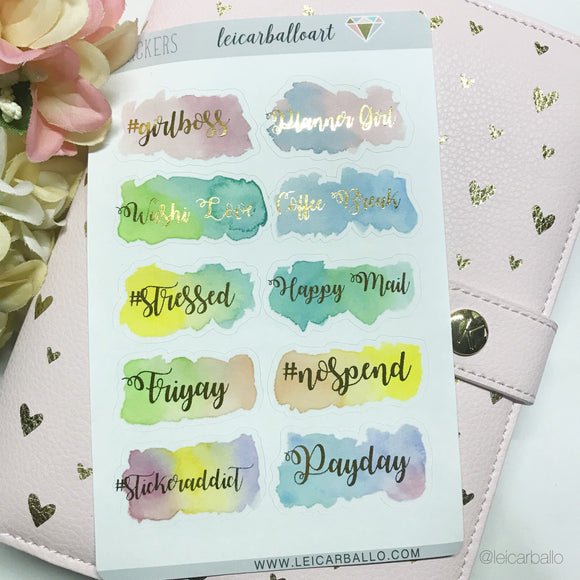 Foil Stickers - Words