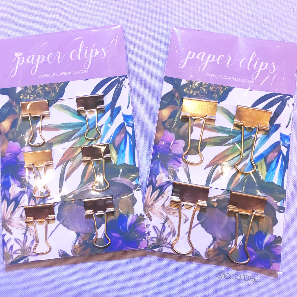 Paper Clip - Gold Binder Clips