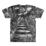 Buddha Steps V Neck T Shirt