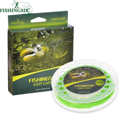 Fishing Gear - 100FT Weight Forward Floating Fly Fishing Line, Four Colors, Six Sizes