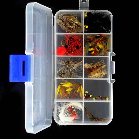 Fishing Gear - 40 Piece Fishing Flies & Box