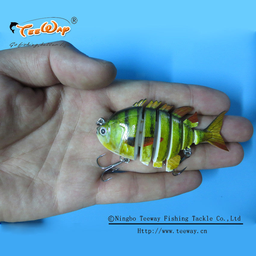 Fishing Gear - 6 Segment 3D Sunfish Swimbait Fishing Lure