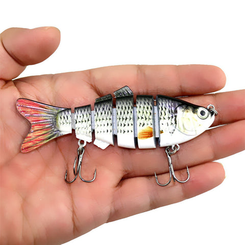 Fishing Gear - Lifelike 6 Segment 3D Eye Swimbait Fishing Lure - Hot Seller!