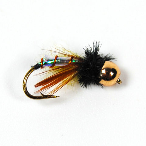 Fly - 6 Pieces, Size12 Brass Bead Head Chironomidae Midge Flies